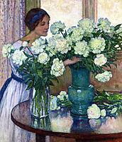 White Peonies, 1913, rysselberghe