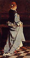 Woman in a Green Dress, c.1885, rysselberghe