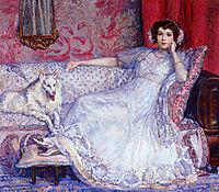 The Woman in White (Portrait of Madame Helene Keller), 1907, rysselberghe
