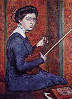 Woman with Violin (Portrait of Rene Druet), 1910, rysselberghe