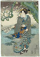Woman under Flowering Tree, sadatora