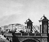 Anichkov bridge in St. Petersburg, c.1830, sadovnikov