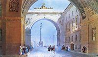 The Arch of the General Headquarters Building, c.1830, sadovnikov