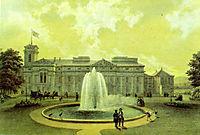 Eastern Wing of Verkiai Palace, 1848, sadovnikov