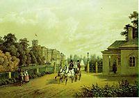 Entrance into Verkiai Palace, Vilnius, Lithuania, 1848, sadovnikov
