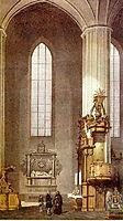 Interior of Bernardine Church in Vilnius, Lithuania, 1848, sadovnikov