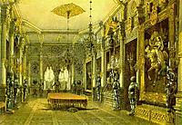 Knight-s Hall in Verkiai Palace, Vilnius, Lithuania, 1846, sadovnikov