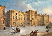 Mariinsky Palace as Seen from the Blue Bridge, 1847, sadovnikov