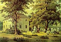 School for Peasants Children in Verkiai, 1848, sadovnikov