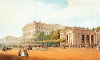 View of the Anichkov Palace, 1862, sadovnikov
