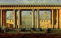 View of the Anichkov Palace from the Fontanka River, 1838, sadovnikov