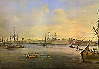 View of the Neva and the Peter and Paul fortress, 1847, sadovnikov
