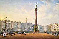 View of Palace Square and Winter Palace in St. Petersburg, c.1830, sadovnikov