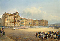 View of the Winter Palace from the Admiralty, 1839, sadovnikov