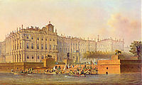 View of the Winter Palace from the west, 1840, sadovnikov