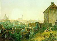 Vilnius City Panorama from Subachius street, 1848, sadovnikov