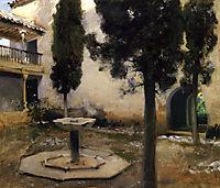 Alhambra, Patio de la Reja, 1879, sargent