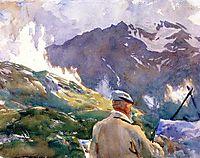 Artist in the Simplon, sargent