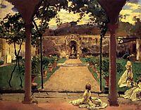 At Torre Galli. Ladies in a Garden, 1910, sargent