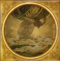 Atlas and the Hesperides, 1922-1925, sargent