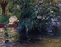 A Backwater, Calcot Mill near Reading, 1888, sargent
