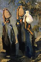 Bedouin Women Carrying Water Jars, 1891, sargent