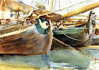 Boats, Venice, 1903, sargent