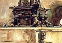 Bologna Fountain, 1906, sargent