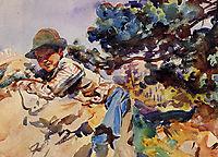 Boy on a Rock, 1907-1909, sargent