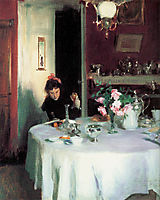 The Breakfast Table, 1884, sargent