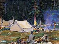 Camping at Lake O-Hara, 1916, sargent
