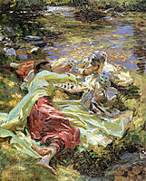 The Chess Game, 1907, sargent