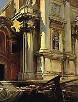 Corner of the Church of Saint Stae, Venice, 1913, sargent