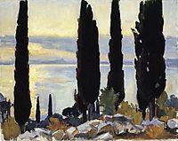 Cypress Trees at San Vigilio, 1913, sargent