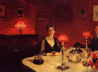 A Dinner Table at Night, 1884, sargent