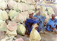Egyptian Water Jars, 1885, sargent