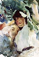 Ena Wertheimer with Antonio Mancini, 1904, sargent