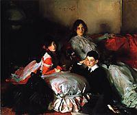 Essie, Ruby and Ferdinand, Children of Asher Wertheimer, 1902, sargent