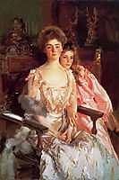 Mrs. Fiske Warren and Her Daughter Rachel, 1903, sargent