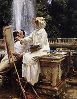 The Fountain, Villa Torlonia, Frascati, Italy, 1907, sargent