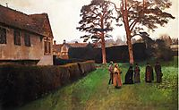 A Game of Bowls, Ightham Mote, Kent, 1889, sargent