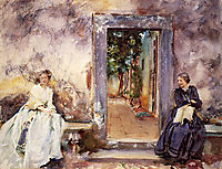 The Garden Wall, 1910, sargent