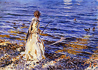 Girl Fishing, 1913, sargent