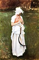 Girl with a Sickle, 1885, sargent