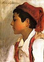 Head of a Neapolitan Boy in Profile, 1879, sargent