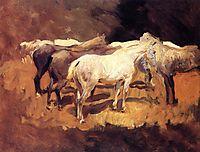 Horses at Palma, 1908, sargent
