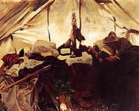 Inside a Tent in the Canadian Rockies, 1916, sargent