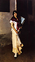 Italian Girl with Fan, 1882, sargent