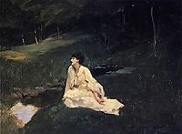 Judith Gautier (also known as By the River or Resting by a Spring), 1885, sargent