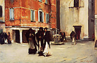 Leaving Church, Campo San Canciano, Venice, 1882, sargent